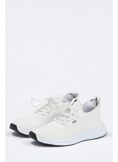 Defacto –Fit Bağcıklı Aktif Spor Ayakkabı Beyaz